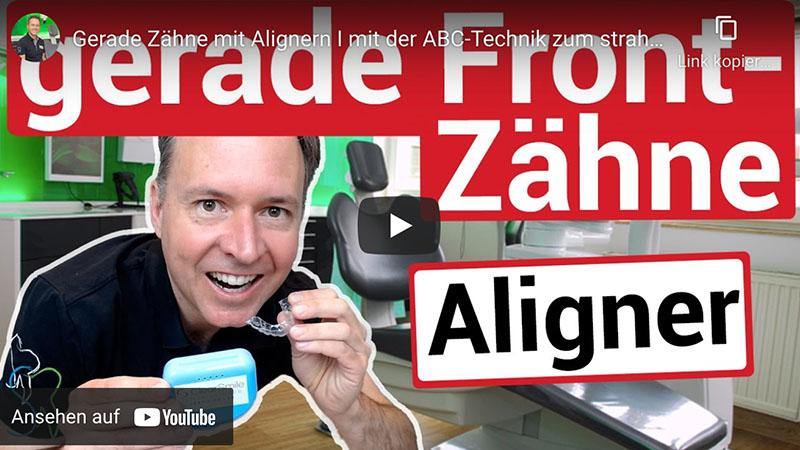"""Das Vorschaubild des Youtubevideos """"gerade Frontzähne"""" der Zahnarztpraxis Dr. Christian Schubert in Beeskow"""