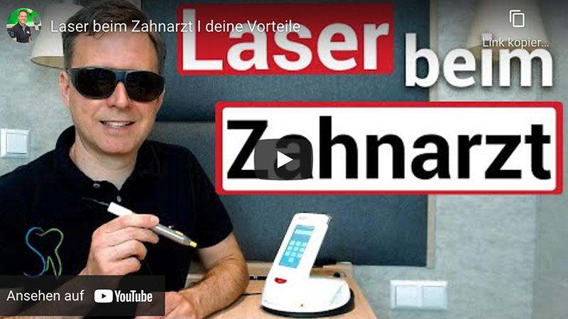 """Vorschaubild des Youtube-Videos """"Laser beim Zahnarzt"""" der Zahnarztpraxis Dr. Christian Schubert in Beeskow"""